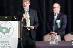 Brian Fallon, MD & John Aucott, MD - Oct. 27 & 28, 2018, LDA/Columbia Annual Scientific Conference (LDA file photo)
