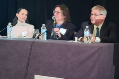 Joanna Buchthal, PhD (candidate), Beatrice Szantyr, MD & James L. Occi, PhD (candidate) - Oct. 27 & 28, 2018, LDA/Columbia Annual Scientific Conference (LDA file photo)
