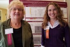 Oct. 27 & 28, 2018, Pat Smith, LDA President & Poster Presenter, Karie Robertson, Arizona State University, LDA/Columbia Annual Scientific Conference
