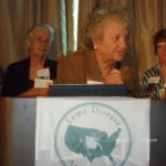 Pat Smith, LDA President, gives her thanks.  (L) Pam Lampe, LDA Vice President and Treasurer looks on.