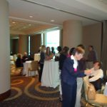 Phyllis Mervine, President, CALDA at the networking reception after the Saturday portion of the conference.