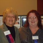 (L) Pat Smith, President, Lyme Disease Association and (R) M. Karen Newell Rogers, PhD