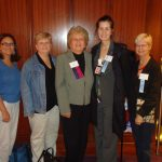From Left to Right:  Julie Merolla, LDA RI Chapter Chair, Karen Gaudian, Ridgefield Lyme Disease Task Force, Pat Smith, LDA President, and Canadian Lyme Activists