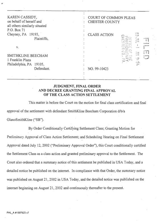 2003 Vaccine Judgement Final Sttle Apprvl