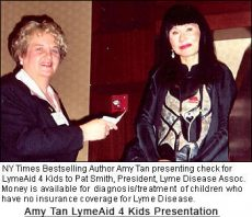 Author Amy Tan Helps Create LymeAid 4 Kids