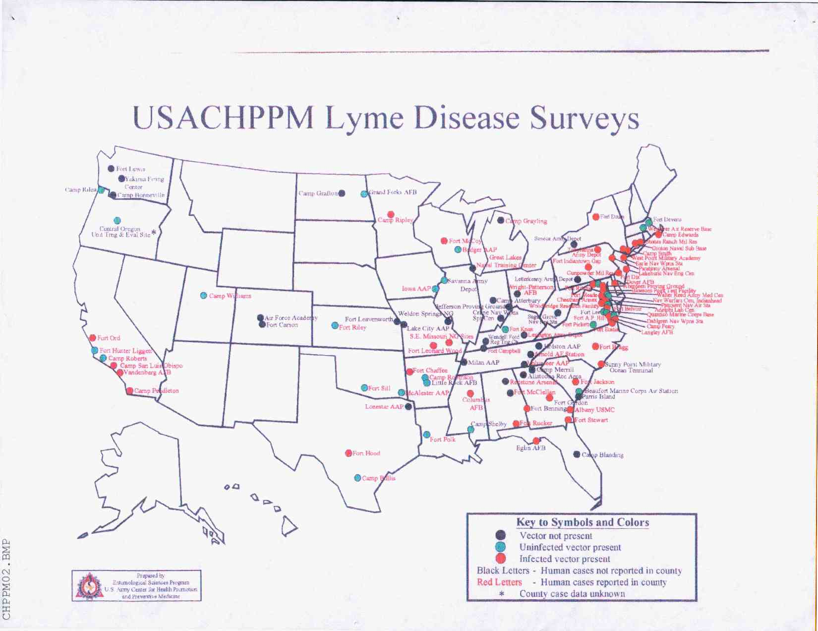 USACHPPM Lyme Disease Surveys