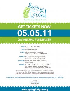 Spring for Lyme Annual Fundraiser May 5th!