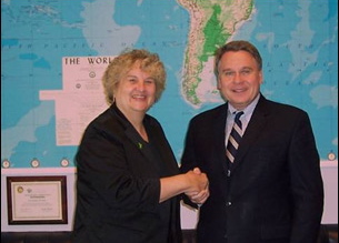 Image of Pat Smith, LDA President, and Congressman Chris Smith (NJ)
