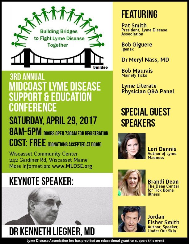2017 Midcoast Lyme Disease Support and Education Conference Flyer