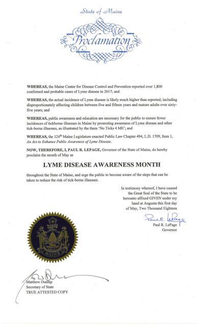ME Lyme Proclamation 2018