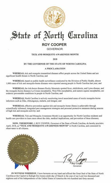 NC Lyme Proclamation 2018