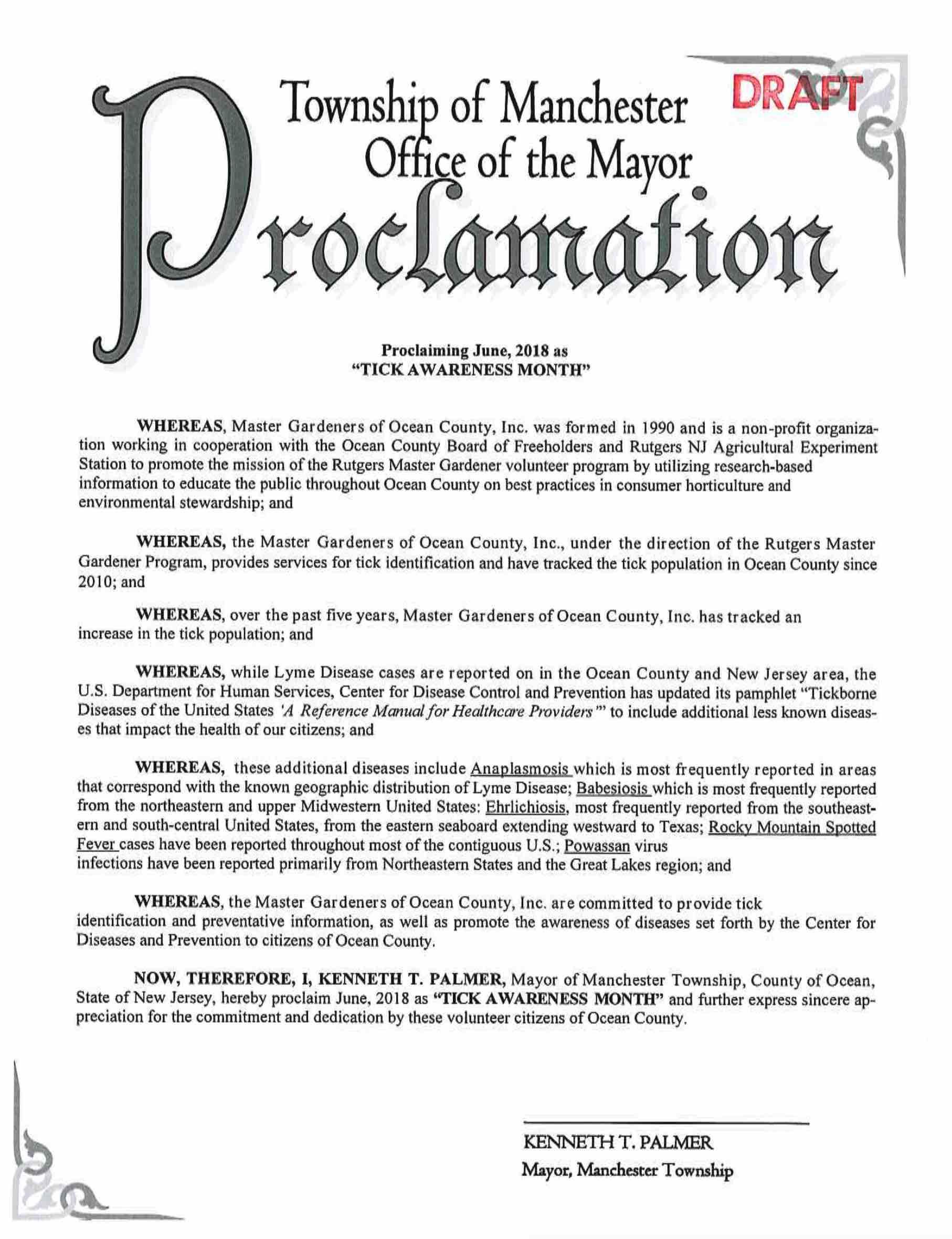 NJ Manchester Cnty Lyme Proclamation 2018b