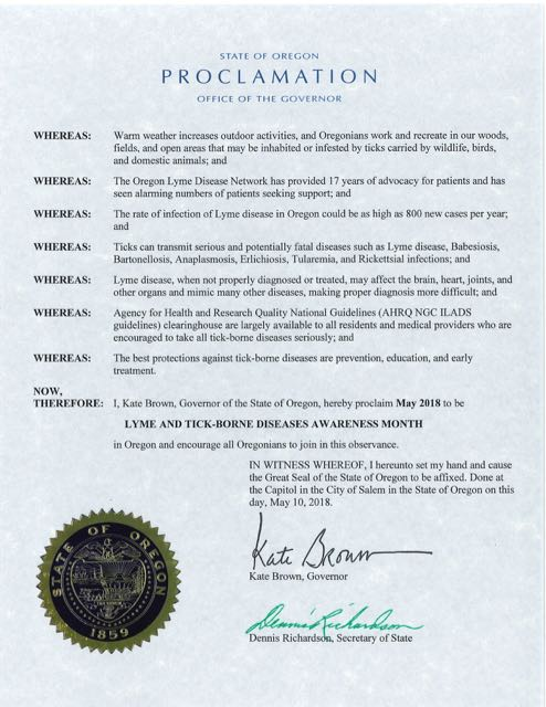 OR Lyme Proclamation 2018