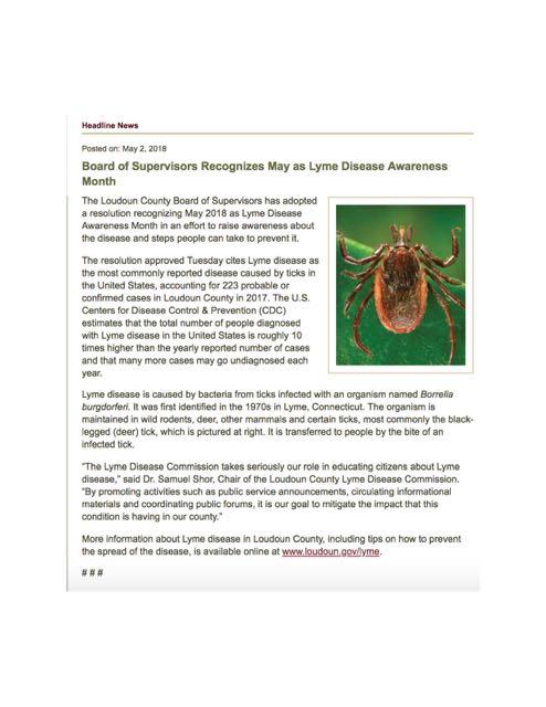 NH Lyme Proclamation 2018