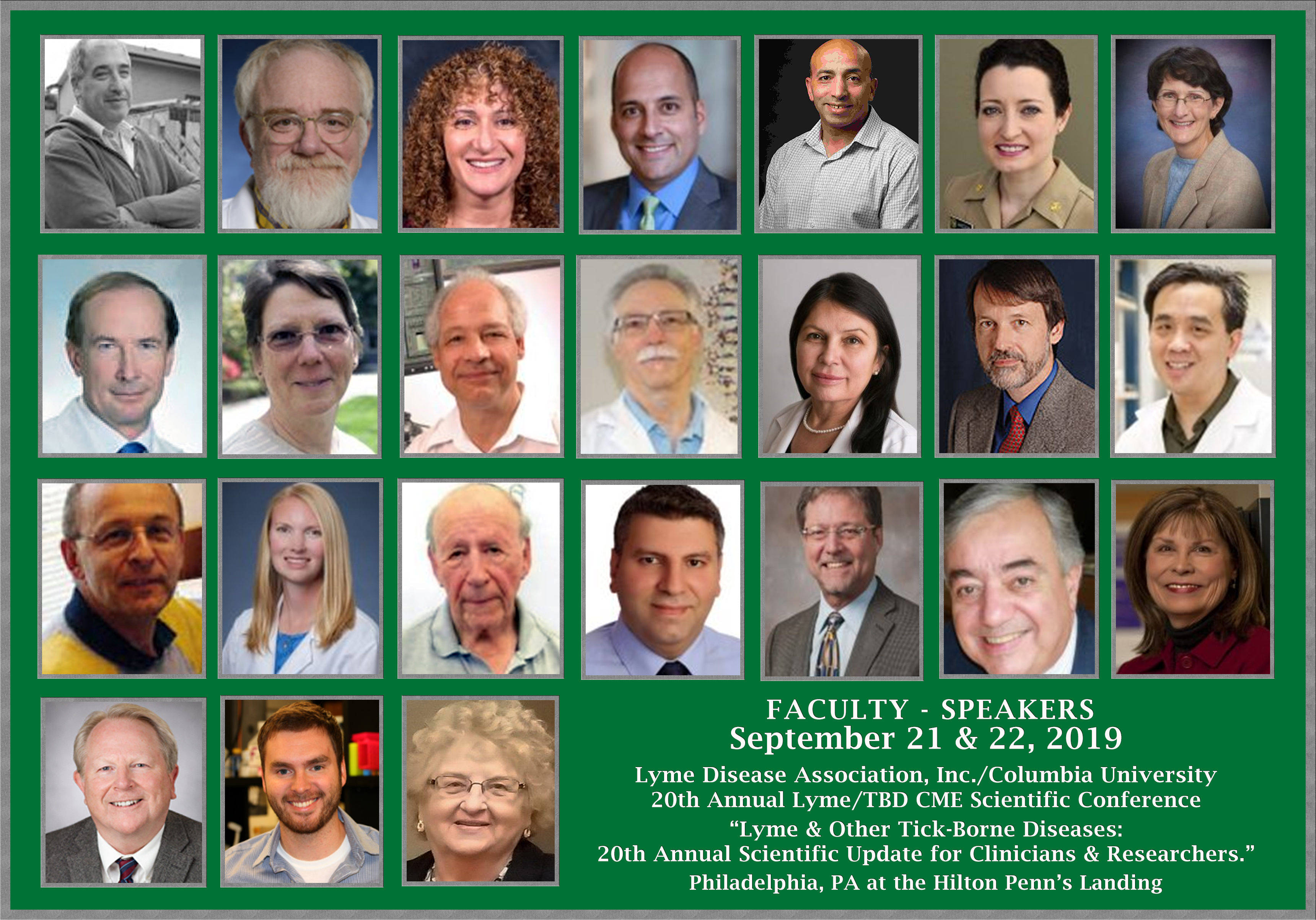 2019 Confernce Faculty