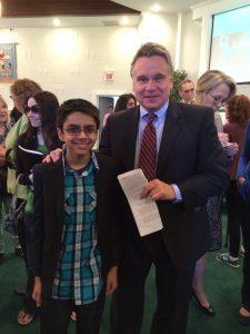 Brian Dashore with Congressman Chris Smith