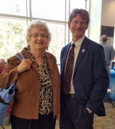 Pat Smith, LDA President and Dr. Jon Connolly, President Sussex County Community College