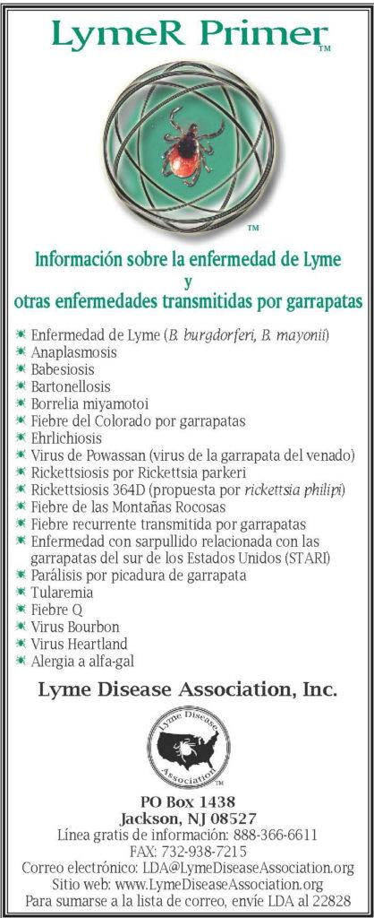 LymeR PrimerTM Folleto de Sensibilización