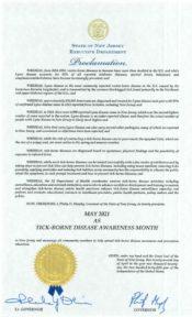 Tick Awareness Proclamation 2021 (Lyme Disease)