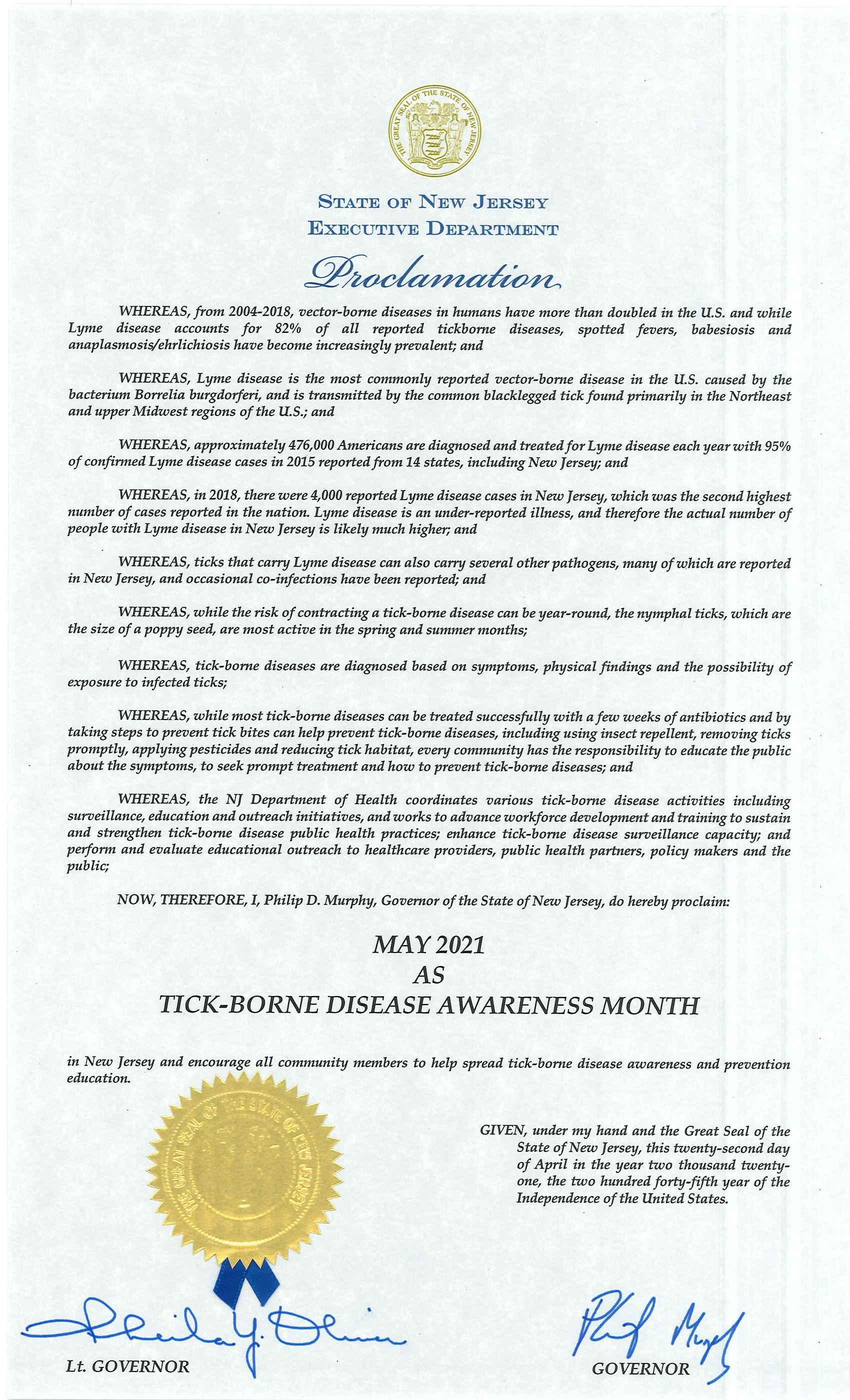 May, Lyme Disease Awareness Month