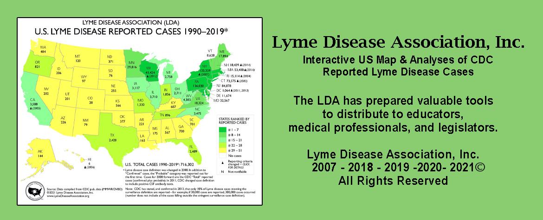 2019 Lyme case map